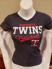 VERY CUTE Minnesota Twins Girls Sz Small (6) Steel Blue T-Shirt, NEW&NICE!
