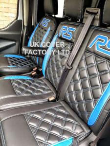 FORD TRANSIT CUSTOM WATERPROOF  VAN SEAT COVERS BLUE RS BENTLEY 24RS