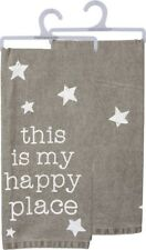 """New!~""""This Is My Happy Place"""" ~Tea Towel 28""""~Hand/Kitchen/Dis h/Star/Home"""