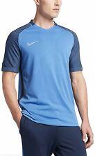 NWT NIKE Aeroswift Strike SS TOP Soccer Shirt TRAINING Blue 725868 Mens S Jersey