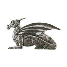 Pewter ~ Premium Dragon With Wings ~ Lapel Pin / Brooch ~ A176PR
