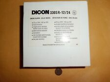DICON 330SR-12/24 Smoke Alarm-Relay Model-Made in Canada