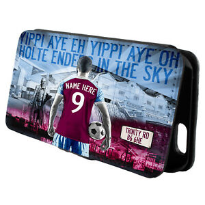 Personalised Aston Villa iPhone Case Football Flip Phone Cover Mens Gift AF08