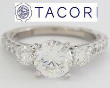 0.72 ct TACORI Clean Crescent 31-2RD65 18K White Semi-Mount Engagement Ring
