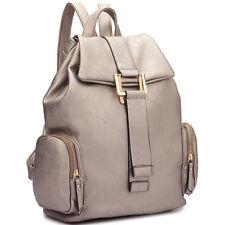 New Dasein Women Leather Backpack Handbag Schoolbag Shoulder Bag Travel Purse