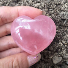 1Pc Natural Quartz Heart Shaped Pink Crystal Love Healing Gemstones Collection