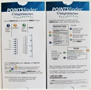 Weight Watchers Flex Points Finder Slide Calculator FlexPoints Plan Slider -NEW