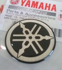 Yamaha Original 30mm Stimmgabel Silber / Schwarz Gel Abziehbild Emblem UK Lager