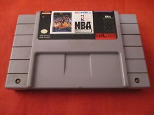 NBA Showdown (Super Nintendo Entertainment System, 1993) SNES game WORKS! #B1