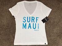 $25 - BRAND NEW HURLEY NIKE WOMEN'S T SHIRT TEE SURF MAUI HAWAII ALOHA WHITE TEE