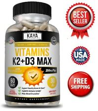 Vitamin K2 (MK7) with D3 5000 IU Supplement, BioPerine Capsules, Immune Health