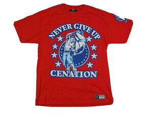 WWE John Cena T-Shirt Adult Medium Red Never Give Up Cenation