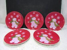 Lot of Five Avon Porcelain Decorative Salad/Dessert Plates, Collectible