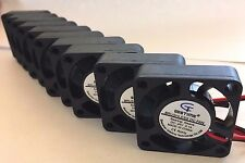 10 UNITS - 24V Mini Cooling Computer Fan - Small 40mm x 10mm DC Brushless 2-pin