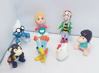 Vintage Retro Toy Bundle 70's 80's rubber figures
