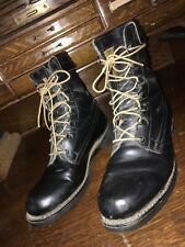 addison shoe company Vintage Military Boots Black Leather 8.5 B Us 6 May 1975