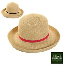 Ladies Packable Sun Hat Rolls for Travelling Braided Cloche Lightweight 124g
