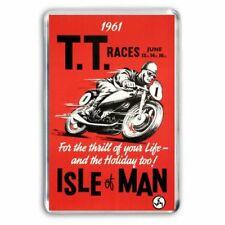 RETRO - ISLE OF MAN TT MOTORCYCLE RACES 1961  POSTER - JUMBO FRIDGE MAGNET