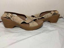 Dansko Women's  Wedge Sandals Taupe Snake Wedge 7.5 - 8 EU 38