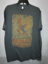 MENS SIZE LARGE THE HUNGER GAMES DOWN WITH THE CAPITOL GRAPHIC TSHIRT NEW #13992