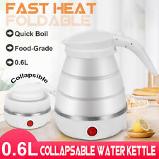 Electric Foldable Kettle Dual Voltage Collapsible Silicone Travel Water Boiler