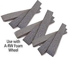 "Aluminum oxide belt 4"" dia x 1"" w,320 grit, 10 pk"