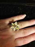Jay King DTR Mine Finds Citrine Flower Ring Size 6.5 SIGNED