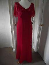 """HARRIET BLACK"" 12 B.N.W.T SCARLET STUNNING LONG EVENING DRESS"