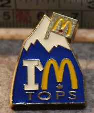 McDonalds Im Tops Canada Mountain Employee Collectible Pinback Pin Button