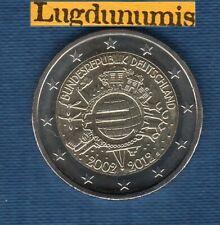 2 euro Commémo Allemagne 2012 10 Ans de L'Euro G Karlsruhe Germany