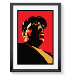 Biggie Smalls Poster Print Art B.I.G Hip Hop Life Rap King + Framed Print #01