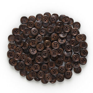 50pcs 4 hole Wood Buttons Sewing Scrapbook Clothing Crafts Gift handwork 15mm