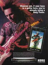 Steve Vai Korg Tuners 2003 8x11 Promo Poster Ad