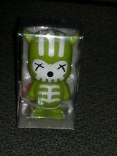 "Macy's Gift Vinyl 3.25"" Striped Skull figure Toy Art sofubi New in box"
