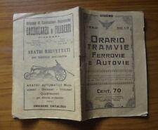 ANTICO LIBRETTO CON ORARIO TRAMVIE FERROVIE E AUTOVIE GIUGNO 1940 SUBALPINA AA