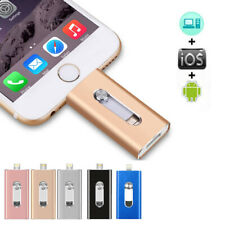 128 GB OTG Dual USB 3 in 1 Memory i Flash Drive U Disk For IOS iPhone iPad PC