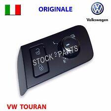 Pulsante cromato bloccaporte specchietti VW TOURAN interruttore tasto ORIGINALE