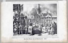 Hamburg-Ritter-Turnier-Hopfenmarkt-Lithographie 1840