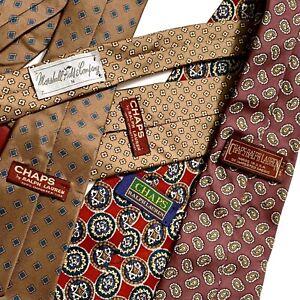 70s Vintage CHAPS RALPH RAULEN All Silk Neck Tie Set of 4 Marshall Field's