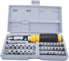 Screwdriver Set Bit And Socket Hand Tool Reversible Ratchet Type Torx Driver