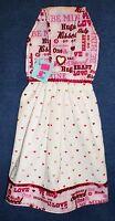 **NEW** Handmade Valentine's Day Be Mine Hearts Hanging Kitchen Hand Towel #1566