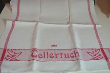 "Pair Of Beautiful1930'S Vintage German Linen Towels – ""Mcs� Mono Rr566"