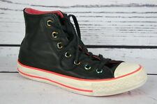CONVERSE Chuck Taylor All Stars Black Leather High Top Sneakers Women's Sz. 6