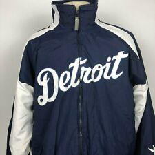 VTG Majestic Detroit Tigers Blue White Dugout Jacket XL MLB Baseball Authentic
