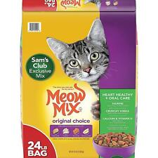 New listing Meow Mix Original Choice Dry Cat Food, Heart Health & Oral Care Formula (24 lbs)