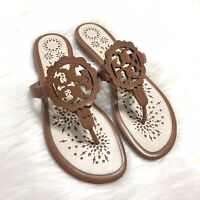 New Tory Burch Scallop Miller Sandals - Vachetta Brown - Size 8.5