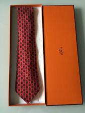 Hermès Krawatte neu100% Seide Rautenmuster