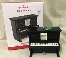 New In Box Hallmark Ornament 2014 Amazing Grace Piano Music Box