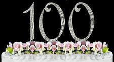 NEW Large Rhinestone  NUMBER (100) Cake Topper 100th Birthday Party Anniversary