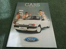 Mar 1985 FORD ALL MODEL CATALOGUE Fiesta Escort Capri Sierra Granada UK BROCHURE